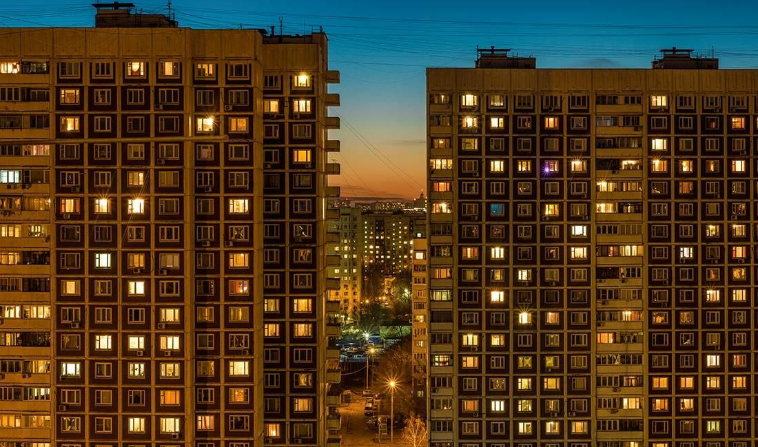 фото из окон многоэтажных домов часто делает акцент